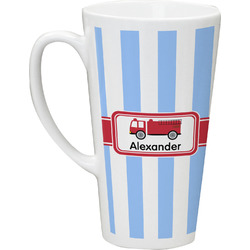 Firetruck 16 Oz Latte Mug (Personalized)