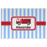 Firetruck Laminated Placemat w/ Name or Text