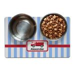 Firetruck Dog Food Mat (Personalized)
