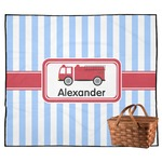 Firetruck Outdoor Picnic Blanket (Personalized)