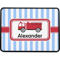 Firetruck Rectangular Trailer Hitch Cover (Personalized)
