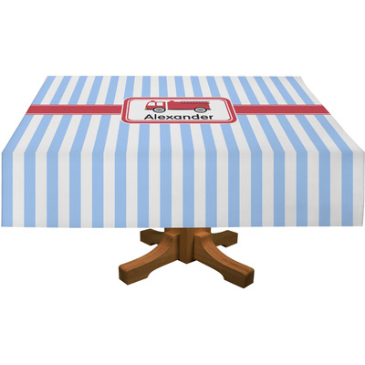 """Firetruck Tablecloth - 58""""x102"""" (Personalized)"""