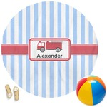 Firetruck Round Beach Towel (Personalized)