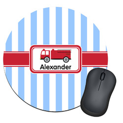 Firetruck Round Mouse Pad (Personalized)