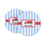 Firetruck Sandstone Car Coasters (Personalized)