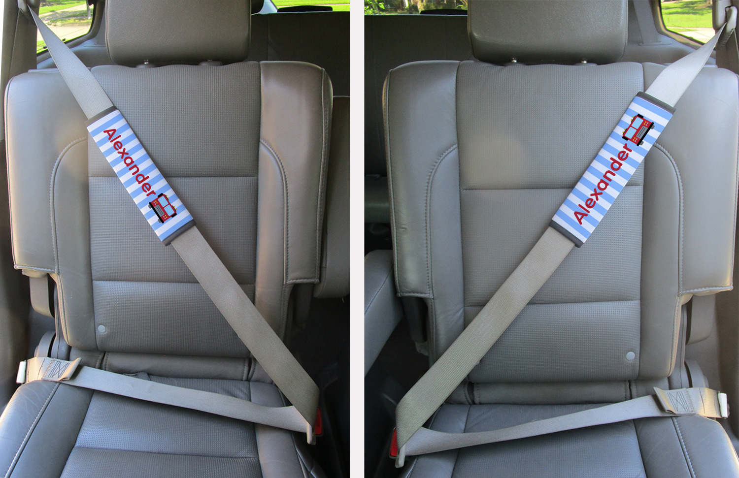 Firetruck Seat Belt Covers (Set of 2) (Personalized)