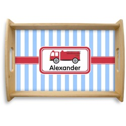 Firetruck Natural Wooden Tray (Personalized)