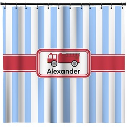 Firetruck Shower Curtain Personalized