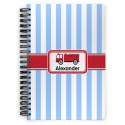 Firetruck Spiral Bound Notebook (Personalized)