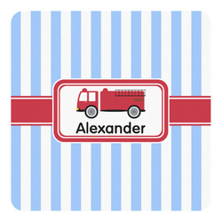Firetruck Square Decal (Personalized)