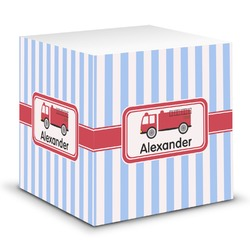 Firetruck Sticky Note Cube (Personalized)