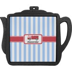 Firetruck Teapot Trivet (Personalized)