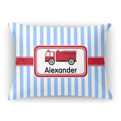 Firetruck Rectangular Throw Pillow Case (Personalized)