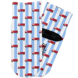 Firetruck Toddler Ankle Socks (Personalized)