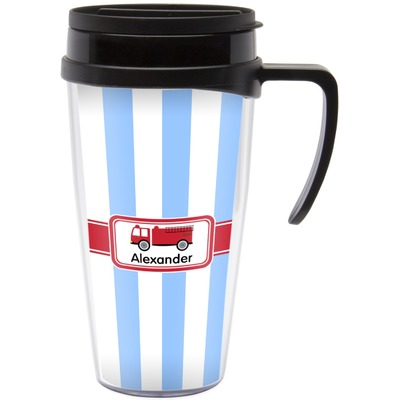 Firetruck Travel Mug with Handle (Personalized)
