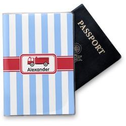 Firetruck Vinyl Passport Holder (Personalized)