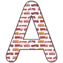 Firetruck Letter Decal - Large (Personalized)