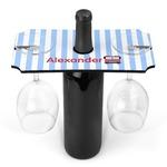 Firetruck Wine Bottle & Glass Holder (Personalized)