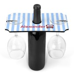Firetruck Wine Bottle & Glass Holder (Personalized)