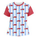 Firetruck Women's Crew T-Shirt (Personalized)