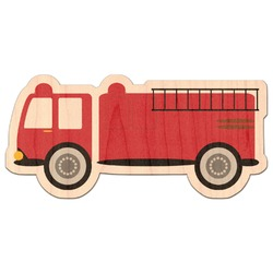 Firetruck Genuine Maple or Cherry Wood Sticker (Personalized)