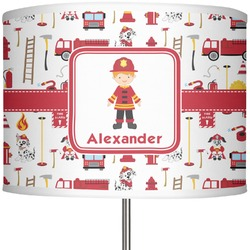 """Firefighter for Kids 13"""" Drum Lamp Shade (Personalized)"""