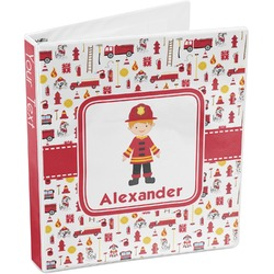 Firefighter for Kids 3-Ring Binder (Personalized)
