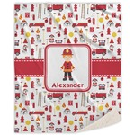 Firefighter Character Sherpa Throw Blanket (Personalized)