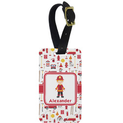 Firefighter for Kids Aluminum Luggage Tag (Personalized)