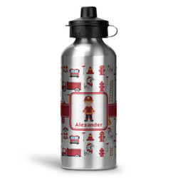 Firefighter Character Water Bottle - Aluminum - 20 oz (Personalized)