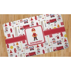 Firefighter for Kids Area Rug (Personalized)