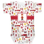 Firefighter Character Baby Bodysuit (Personalized)
