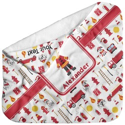 Firefighter for Kids Baby Hooded Towel (Personalized)
