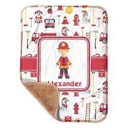 Firefighter Sherpa Baby Blanket 30