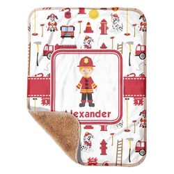 "Firefighter for Kids Sherpa Baby Blanket 30"" x 40"" (Personalized)"