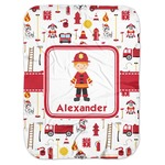Firefighter Character Baby Swaddling Blanket w/ Name or Text
