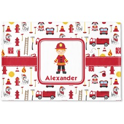 Firefighter Woven Mat (Personalized)