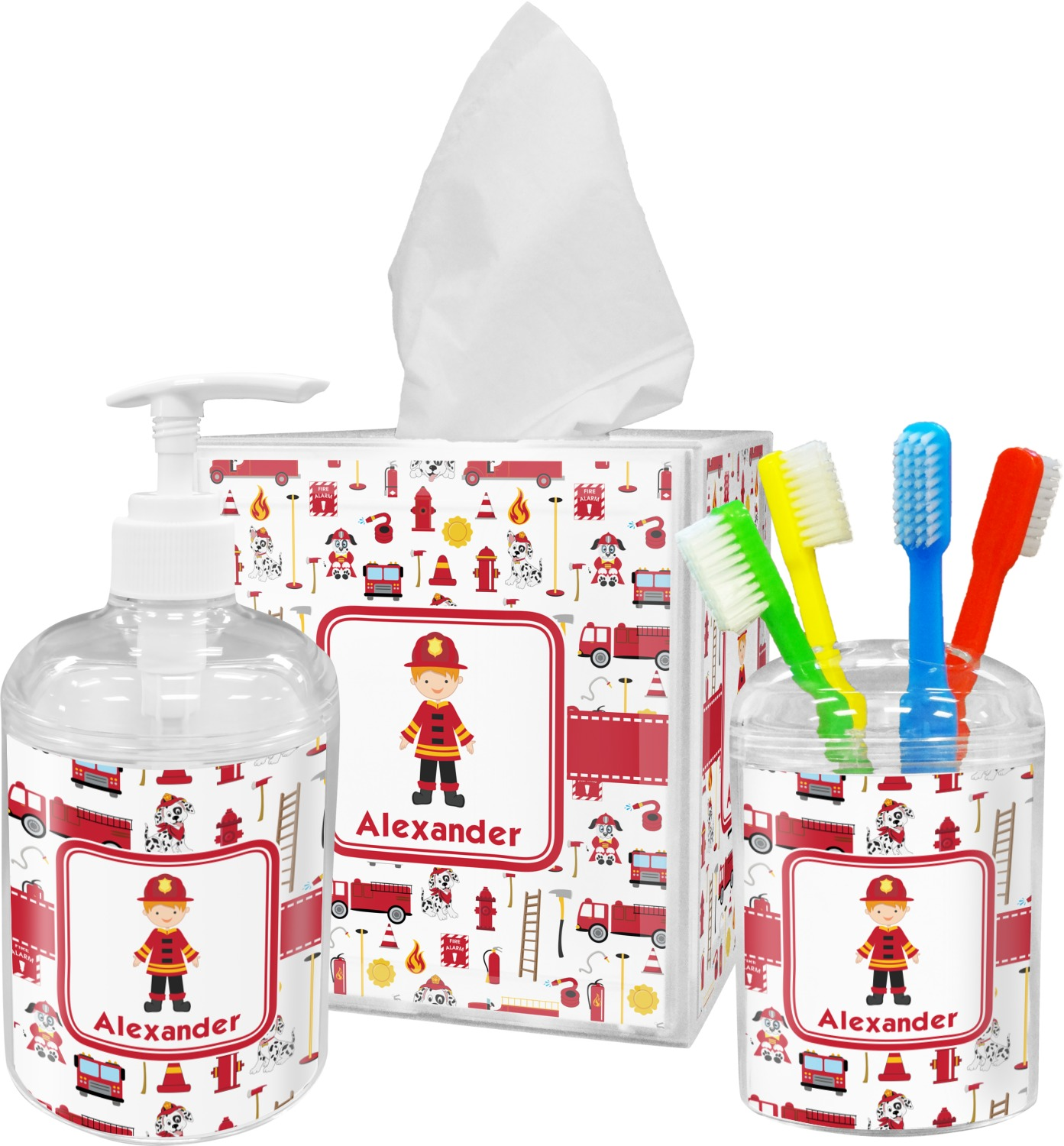Https Www Rnkshops Com P Firefighter Bathroom Accessories Set Personalized 54486