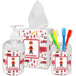 Firefighter for Kids Bathroom Accessories Set (Personalized)