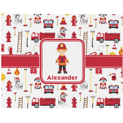 Firefighter Character Woven Fabric Placemat - Twill w/ Name or Text