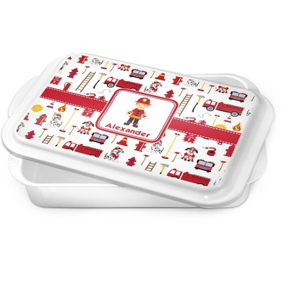 Firefighter Character Cake Pan w/ Name or Text