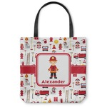 Firefighter Character Canvas Tote Bag (Personalized)