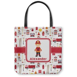 "Firefighter for Kids Canvas Tote Bag - Small - 13""x13"" (Personalized)"