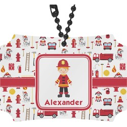 Firefighter Rear View Mirror Ornament (Personalized)