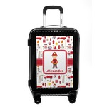 Firefighter Character Carry On Hard Shell Suitcase w/ Name or Text