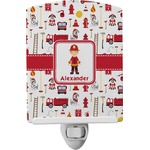 Firefighter for Kids Ceramic Night Light (Personalized)