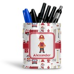 Firefighter Ceramic Pen Holder