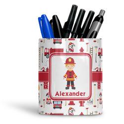Firefighter Character Ceramic Pen Holder