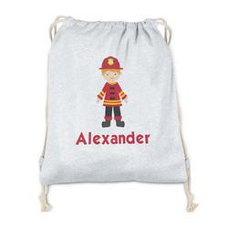 Firefighter Character Drawstring Backpack - Sweatshirt Fleece (Personalized)