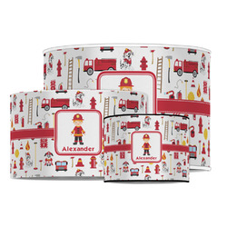 Firefighter Character Drum Lamp Shade (Personalized)